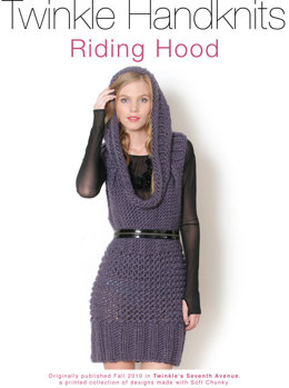 Riding Hood Dress in Classic Elite Yarns Twinkle Soft Chunky - Downloadable PDF