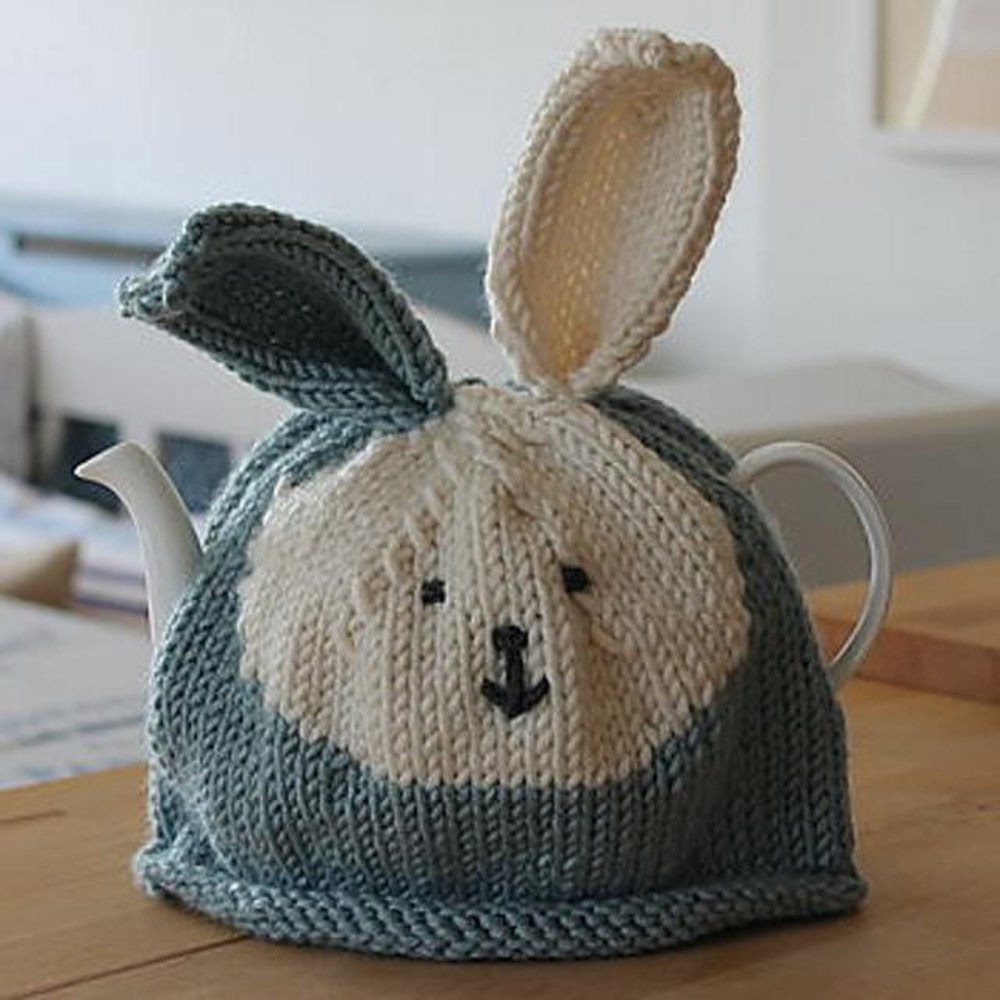 Free Teapot Cosy Knitting Pattern : Bunny Rabbit Tea Cosy Knitting pattern by JULIE RICHARDS Knitting Patterns ...