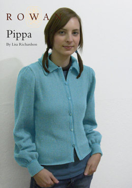 Pippa Classical Shaped Jacket in Rowan Wool Cotton 4 Ply