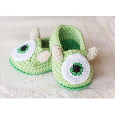 Friendly Monster Baby Booties