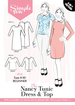Simple Sew Patterns The Nancy Tunic Dress & Top #018 - Sewing Pattern
