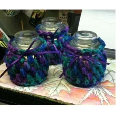 Croheted Candle Cover