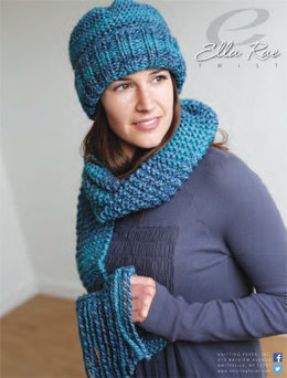 Beanie & Scarf in Ella Rae Twist - ER12-02 - Downloadable PDF