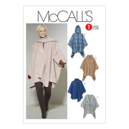 McCall's Misses' Ponchos and Belt M6209 - Sewing Pattern