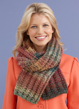 Mistake Rib Scarf in Lion Brand Amazing - L20134C