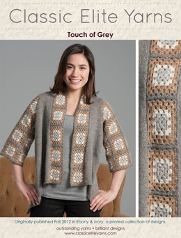 Touch of Grey Jacket in Classic Elite Yarns MountainTop Vail - Downloadable PDF
