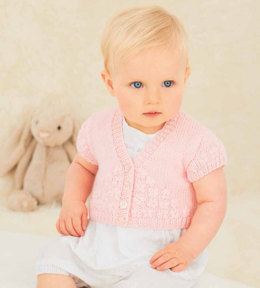 Embroidered Cardigans in Rico Baby Classic DK - 088