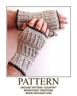 "Crochet Mittens ""COUNTRY"""