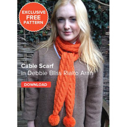 Cable Scarf in Debbie Bliss Rialto Aran