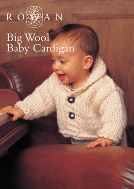 4113b9007 Baby Cardigan in Rowan Big Wool