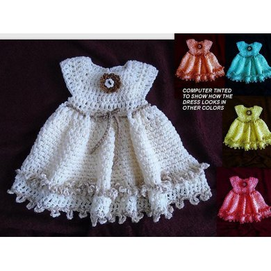 772 Double Frill Girl's Dress