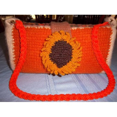 Knitter's Lesson in Tunisian Crochet: Sassy Sunflower Purse