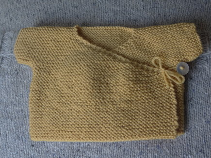 Garter Stitch Wrap Top knitting project by June C LoveKnitting