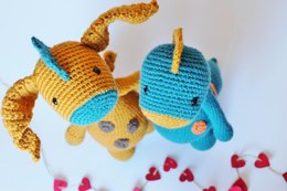 Crochet Dragon and Dino 2 in 1