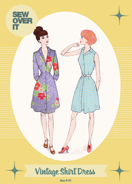 Sew Over It Vintage Shirt Dress - Sewing Pattern