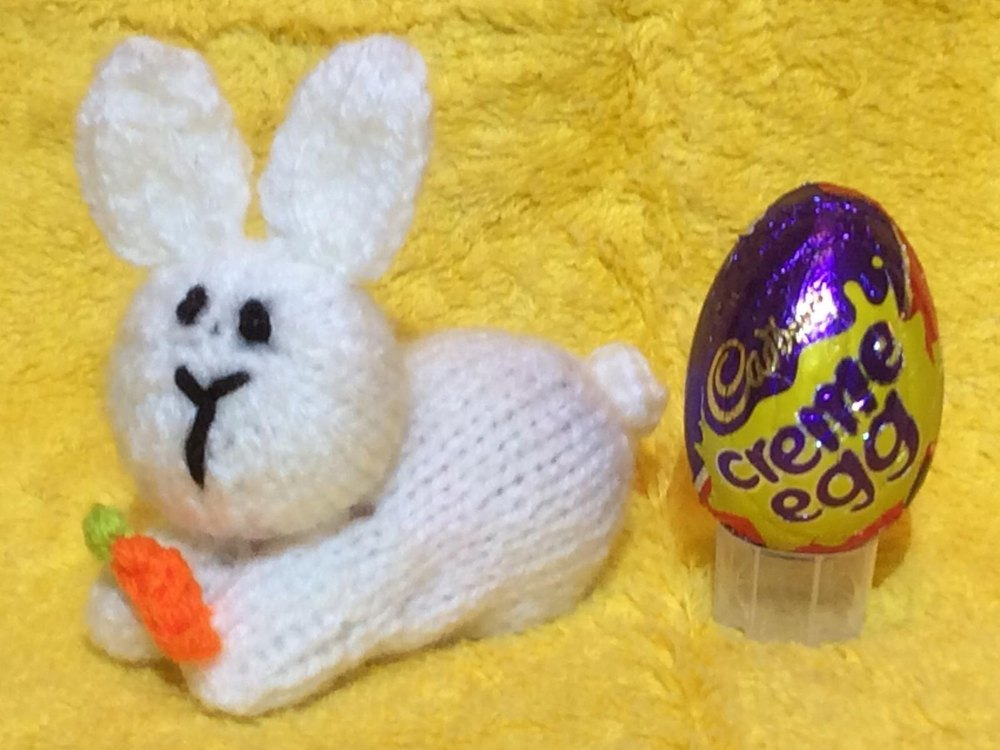 Easter Bunny Creme Egg Choc Cover Knitting Pattern By