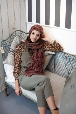 Scarf and Hat in Schachenmayr Soraya - 2210 - Downloadable PDF