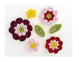 Flowers and Leaves Applique