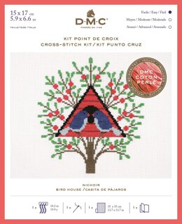 DMC Bird House (Coton Perlé) Cross Stitch Kit