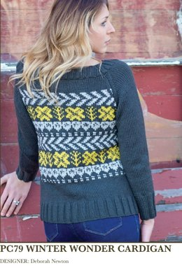 Winter Wonder Cardigan in Imperial Yarn Willamette - PC79 - Downloadable PDF