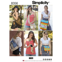 Simplicity Festival Bags in Four Sizes 8356 - Paper Pattern, Size OS (ONE SIZE)