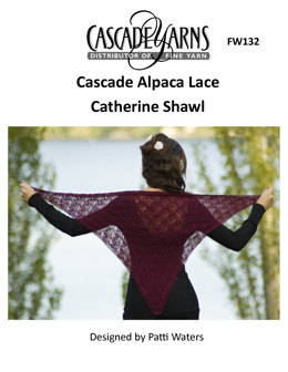 Catherine Shawl in Cascade Yarns Alpaca Lace - FW132 - Downloadable PDF