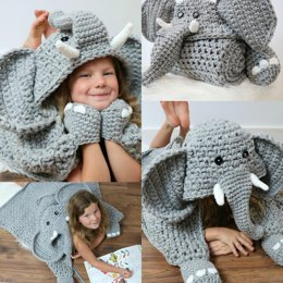 Hooded Elephant Blanket