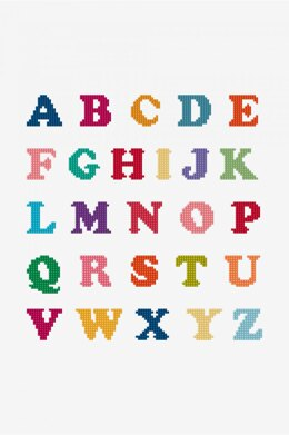 DMC Bright Alphabet Cross Stitch - PAT1211 - Downloadable PDF