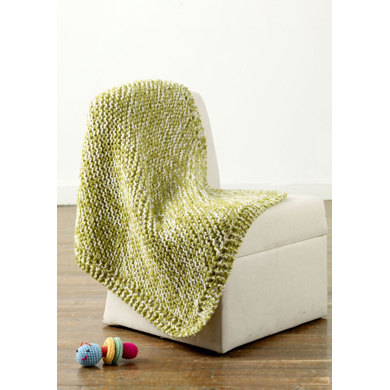 Gleeful Tweed Baby Blanket in Lion Brand Jiffy - 90142AD