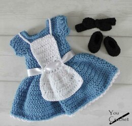 Crochet Alice in Wonderland Baby Dress