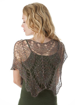 Sparkling Lace Leaf Shawl in Artyarns Beaded Silk and Sequins Light - I227