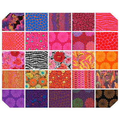 """Kaffe Fassett Collective 10"""" Squares - Hot"""