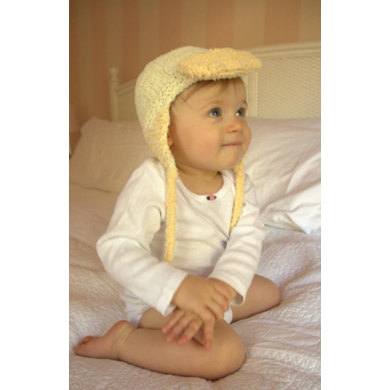 Baby Duck Hat Knitting Pattern : Baby Duck Hat in Plymouth Yarn Daisy - 2500 - Downloadable PDF
