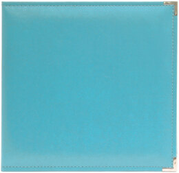 "We R Memory Keepers We R Classic Leather D-Ring Album 12""X12"" - Aqua"