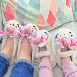 Thread the Love Unicorn Slippers