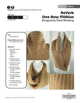 One Row Mobius in Cascade Yarns ReVerb - DK663 - Downloadable PDF
