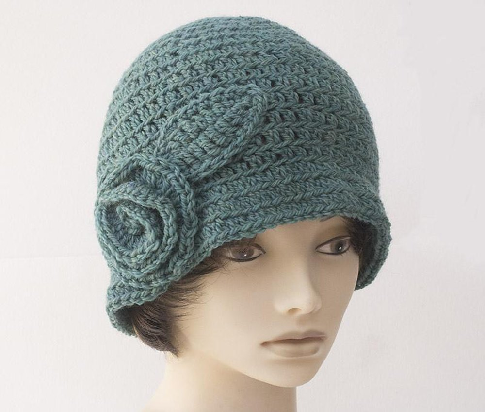 Flapper Flower Cloche Crochet Pattern By Judith Stalus
