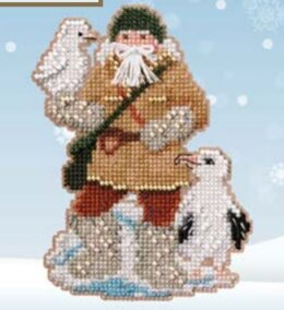 Mill Hill Albatross Santa Cross Stitch Kit - 3.25in x 4.75in