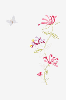 Flowers And Butterfly in DMC - PAT0871 - Downloadable PDF