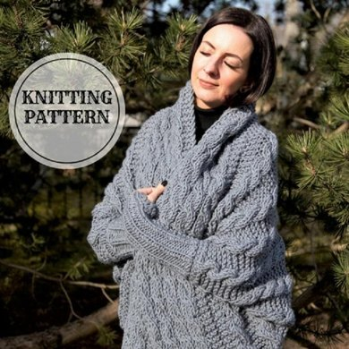 Silver Cocoon Shrug Knitting Pattern By Bummbul
