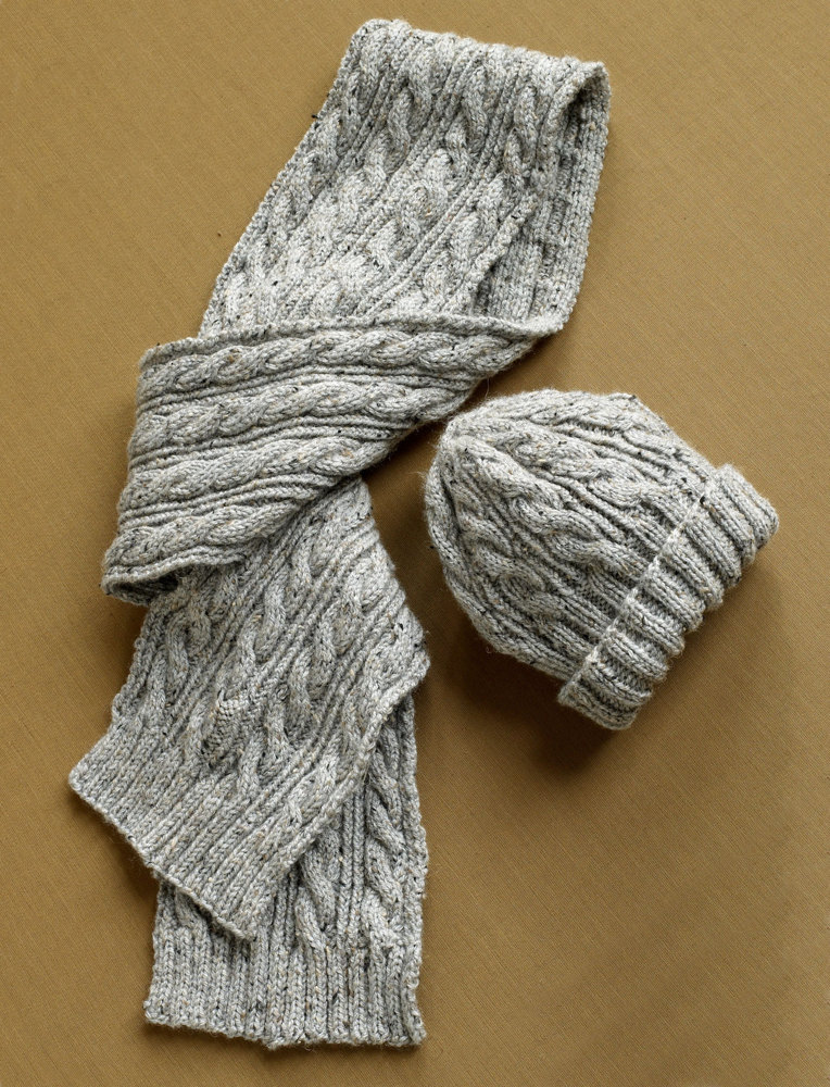 Herdwick Dell Hat And Scarf In Lion Brand Vanna S Choice