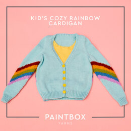 Cosy Rainbow Cardigan - Free Cardigan Knitting Pattern For Kids in Paintbox Yarns Simply Aran by Paintbox Yarns