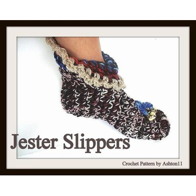 Jester Slippers | Crochet Pattern by Ashton11