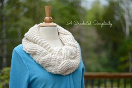 Big Bold Cabled Infinity Scarf