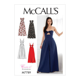 McCall's Misses' Dresses and Jumpsuits M7789 - Sewing Pattern
