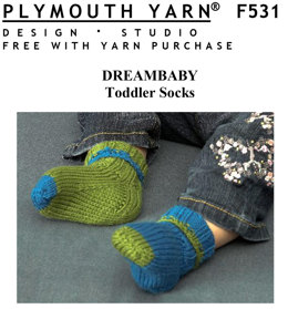 Toddler Socks in Plymouth Yarn Dreambaby DK - F531 - Downloadable PDF