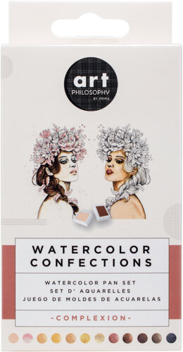 Prima Marketing Prima Watercolor Confections Watercolor Pans 12/Pkg - Complexion