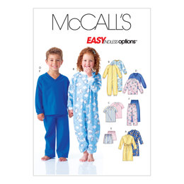 McCall's Toddlers'/Children's Robe, Belt, Jumpsuit, Top, Shorts and Pants M6224 - Sewing Pattern