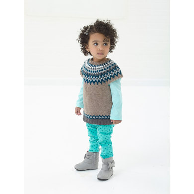 Snow Bunny Tunic in Lion Brand Vanna's Glamour - L10683