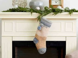 Popi Crochet Christmas Stocking in Bernat Pop! - Downloadable PDF